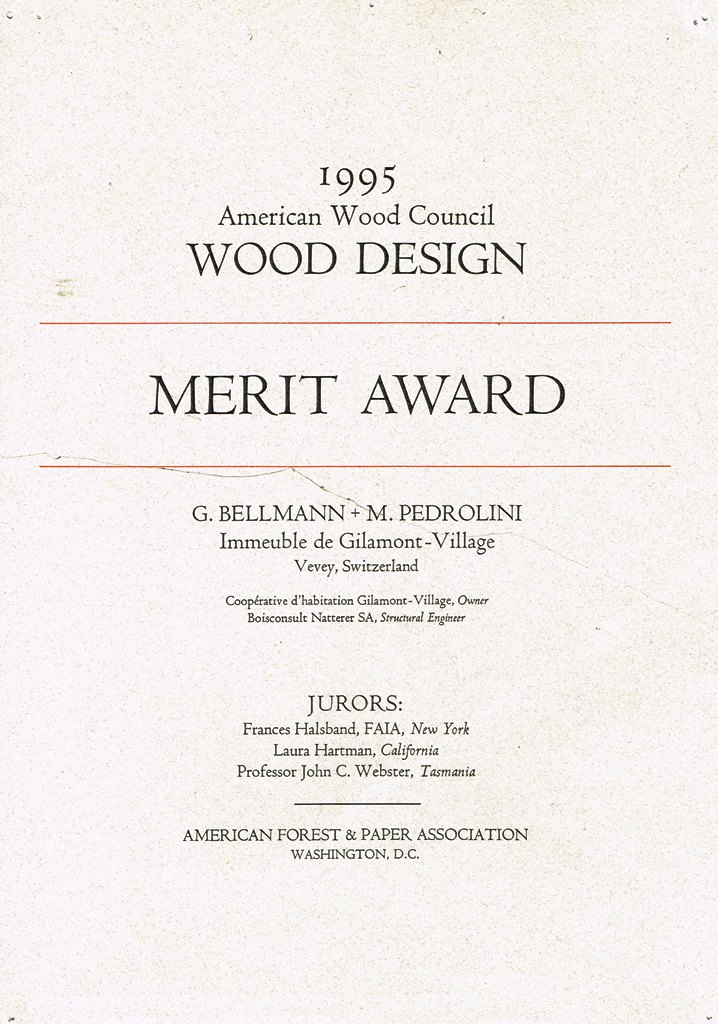 1995 Merit Award American Wood Council Washington